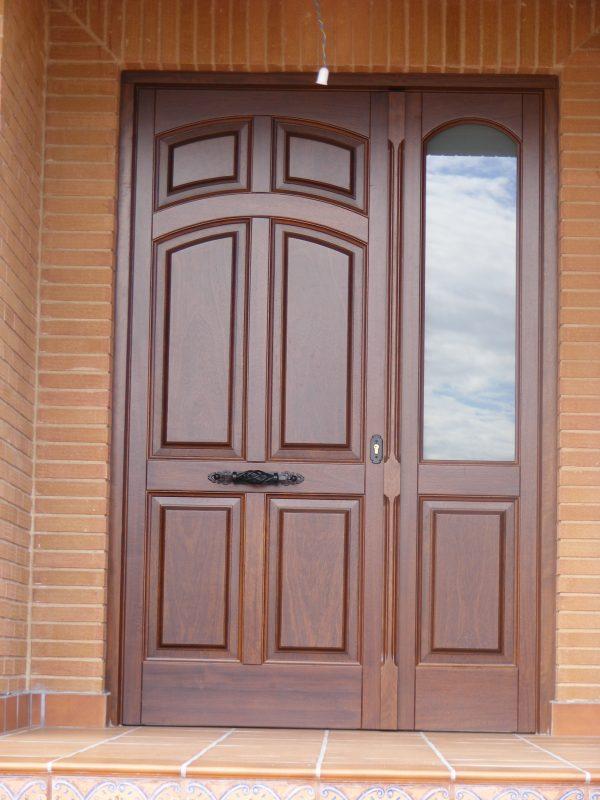 Tecamacar puertas y ventanas de madera for Puertas de madera con vidrio para exterior